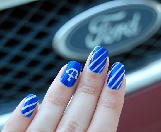beautiful Brandeis Blue nail