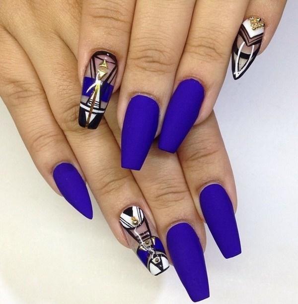 Blue Nail Designs 49