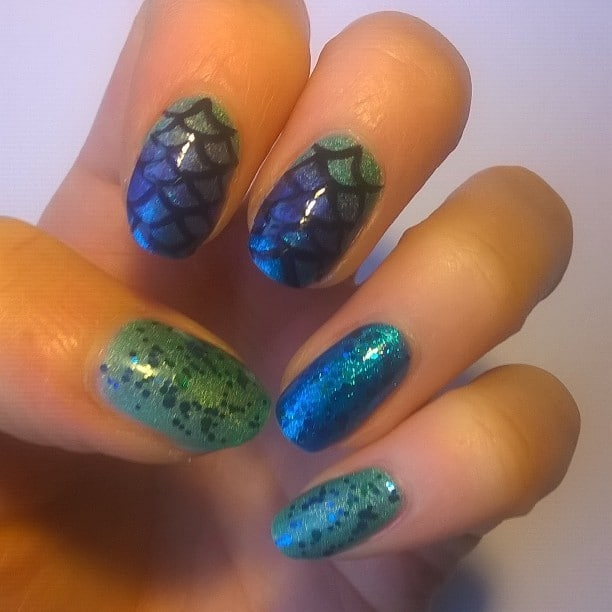womens Blue Nail Designs
