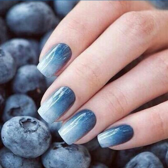 50 coolest blue nail designs for every taste blue nail designs 52 prinsesfo Choice Image