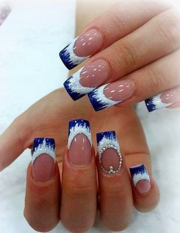 Blue Nail Designs 6