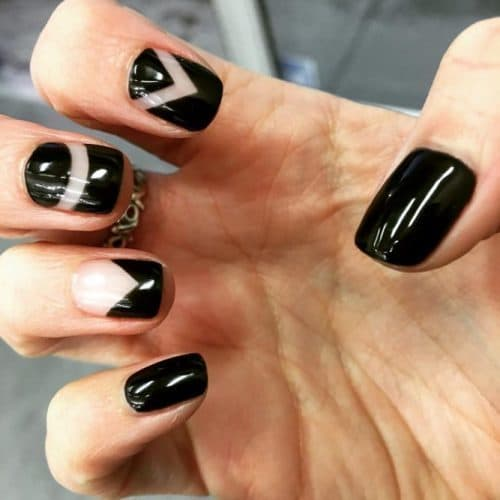 women best Geometric Black Nail Art