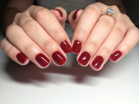 Cute Cherry Red Nails