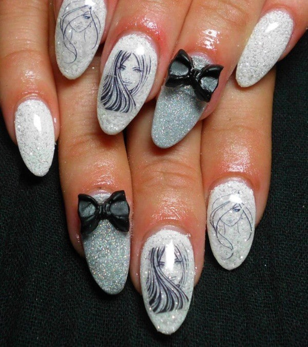 Cute & Beautiful Nail Art Designs 49