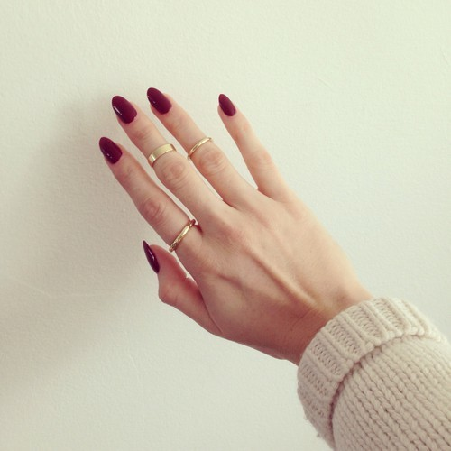 Marble Maroon nail for women