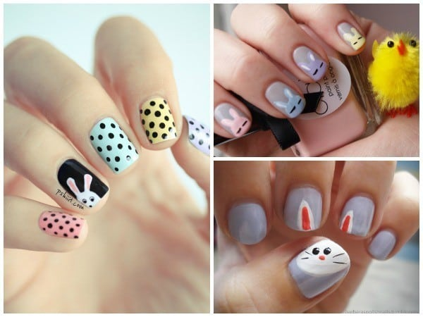 bunny easter nail design
