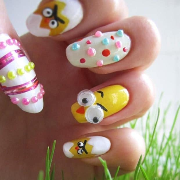Angry Birds look Easter Nail