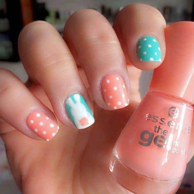 orange nail color ideas for girls