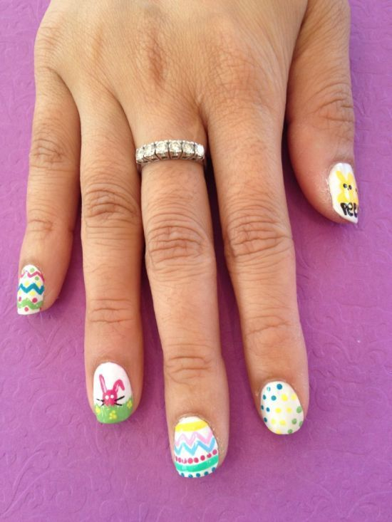 Fluffy Bunny Easter Nail Designs