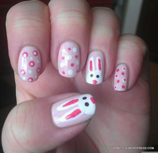 pink color ideas for nail art