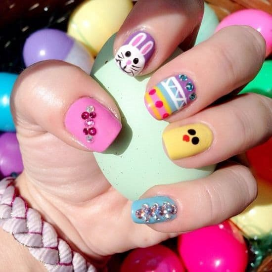 Color full Easter Nail Designs