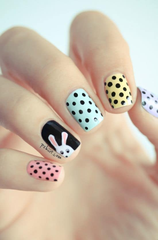 black nail color ideas for cute girls