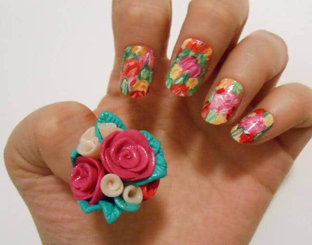 beautiful Flower Nail Styles