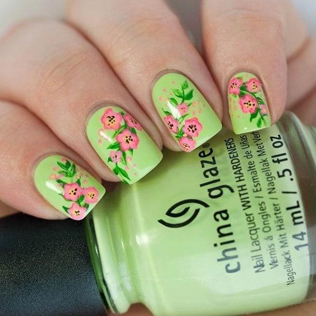 Flower Nail Designs 20