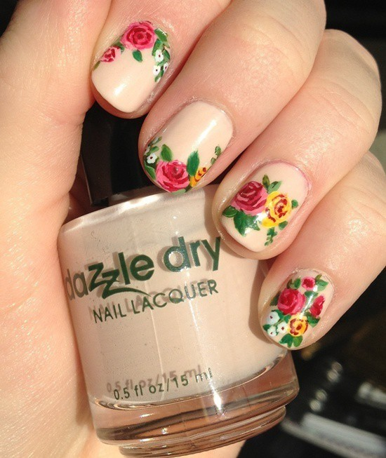 cute Flower Nail - 25 Flower Nail Designs To Make Your Nails Shine