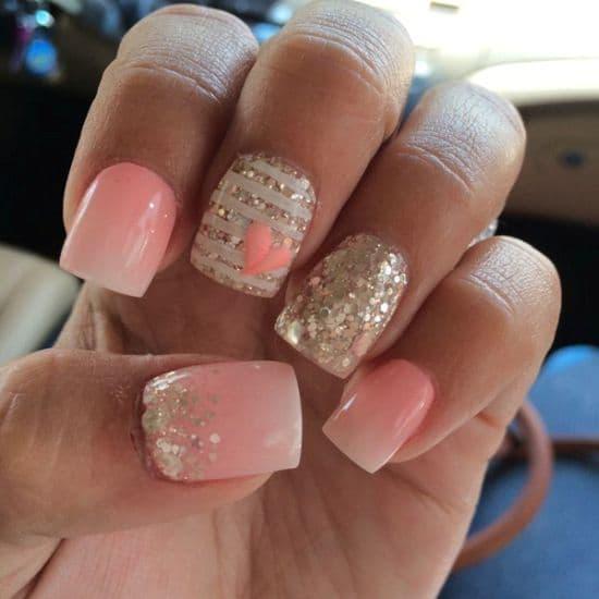 Glitter nail designs 12