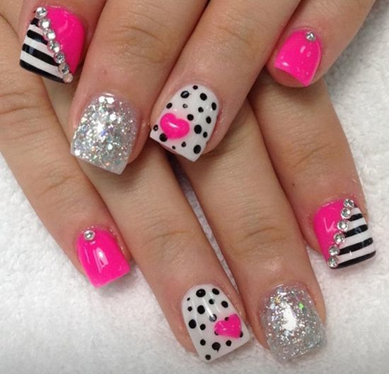 Fuschia Fashion nail idea for women