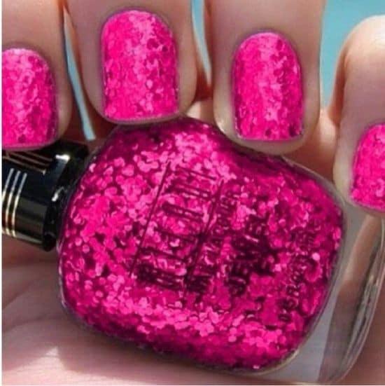 pink glitter nail polish opi