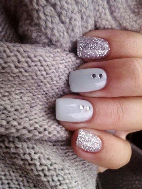 50 Snazziest Glitter Nail Design Ideas Naildesigncode