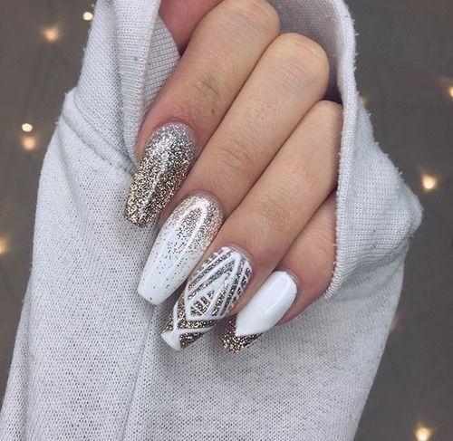 Glitter nail designs 24