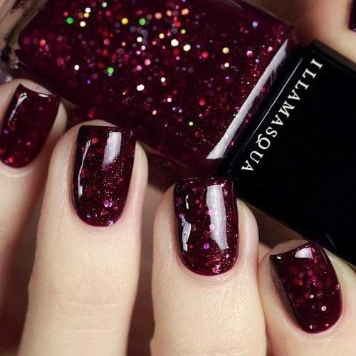 Maroon Shine Glitter nail color