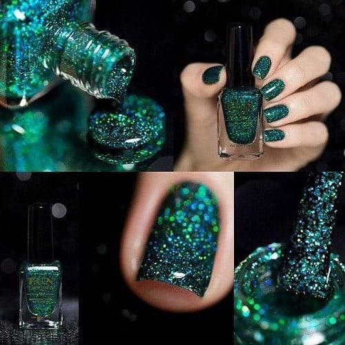 Glitter nail designs 26