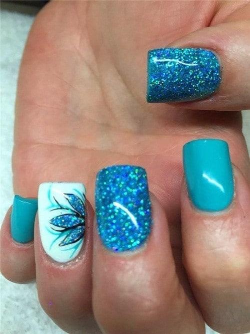 Glitter nail designs 29