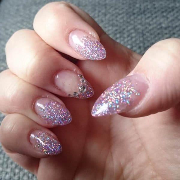 Glitter nail designs 32