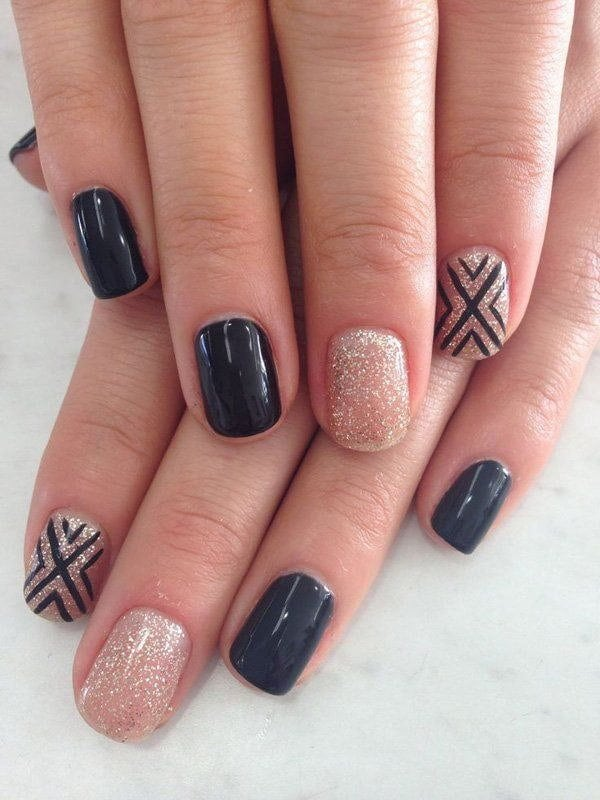 The X Factor Glitter nail designs you like