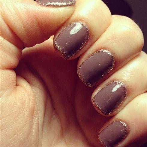 Glitter nail designs 43