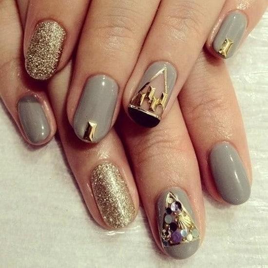 Glitter nail designs 44