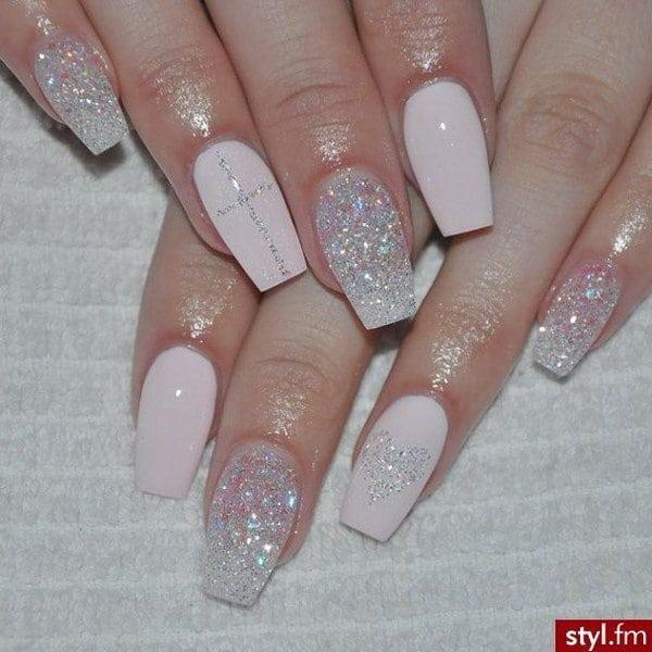Glitter nail designs 49
