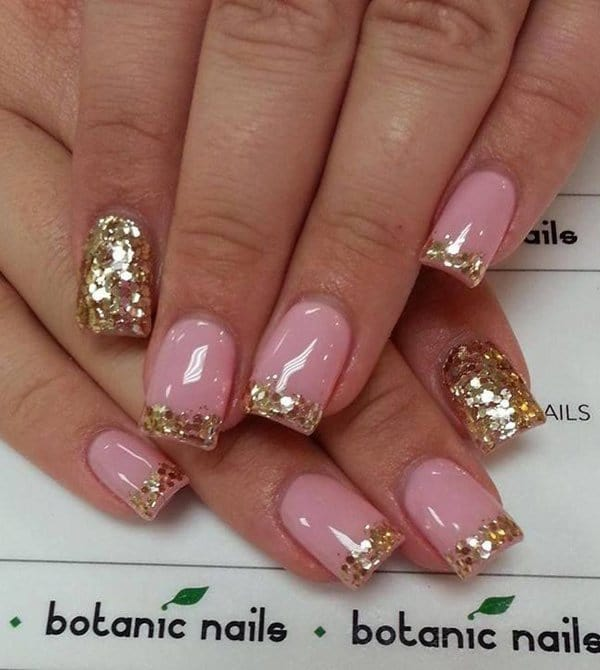 50 Snazziest Glitter Nail Design Ideas – NailDesignCode