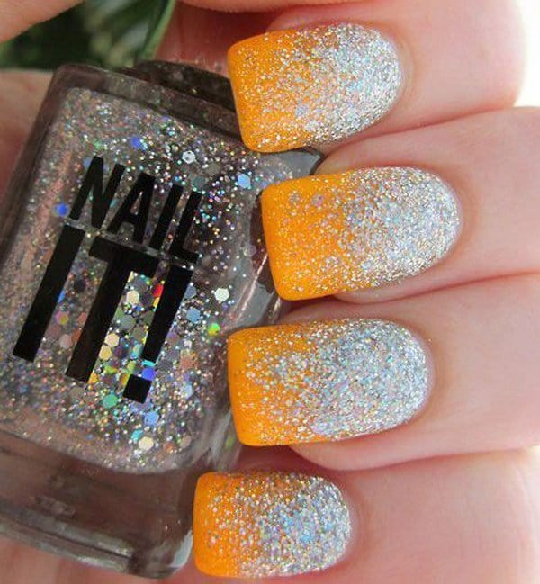 cute Snow Fall Glitter nail your favorite
