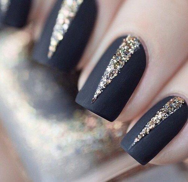 Glitter nail designs 9