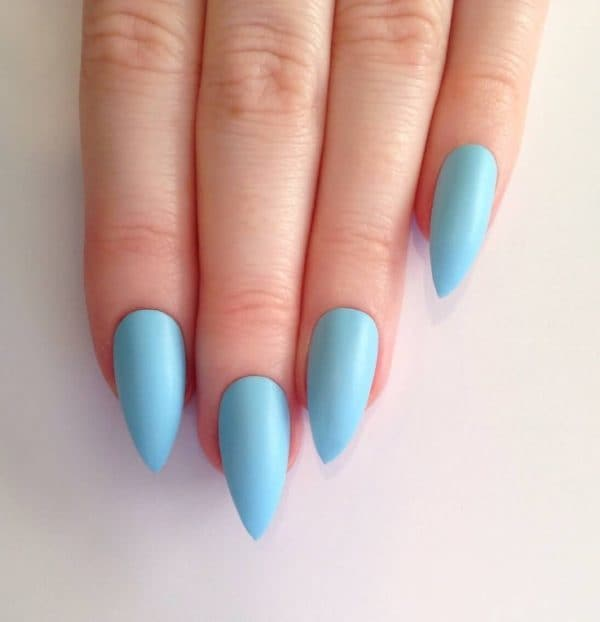 Stilleto blue nail designs ideas