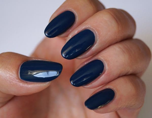 Light Blue, Navy blue & Royal blue nail designs 24