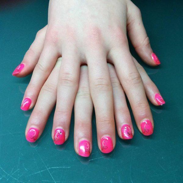 Light green, Maroon & Airbrush nail designs 10