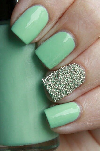 Light green, Maroon & Airbrush nail designs 14