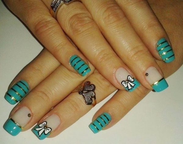 Cute Little Tie design nail art