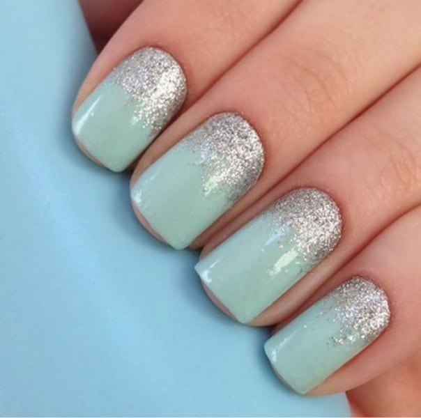 Pistachio And Silver nail your all time favorite