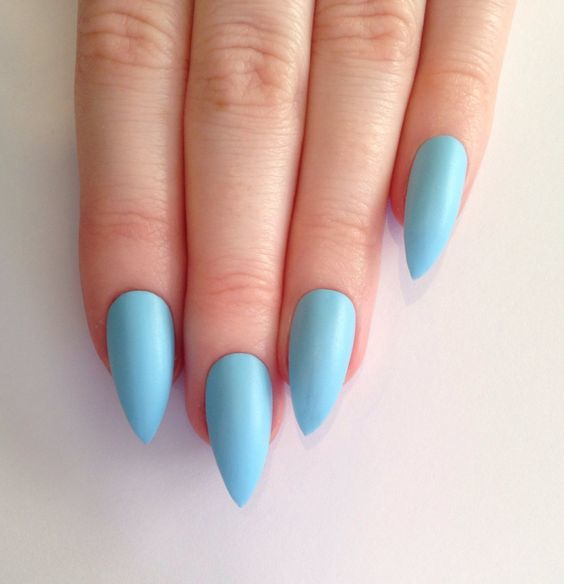 Sky Blue nail art for women