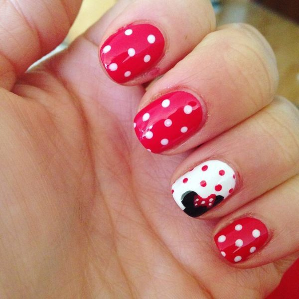 nice Polka Dot nail design women