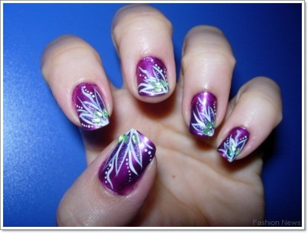 Magenta Breeze With Ease Purple Nail Designs 1