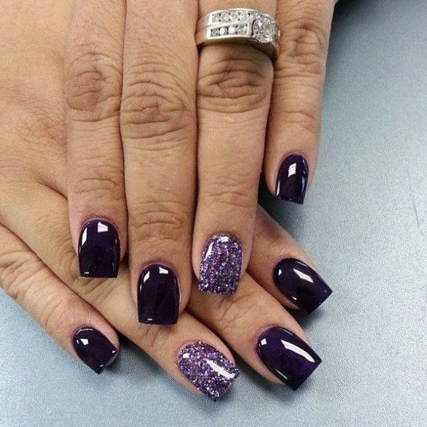 Wine Purple nail for women