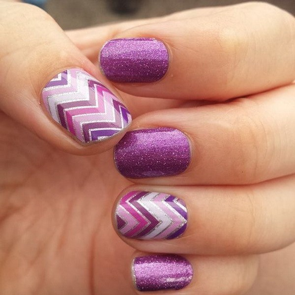 Purple Nail Designs 16