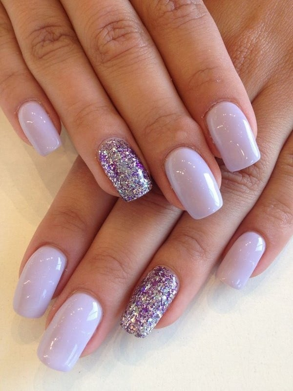 Purple Nail with Lilac Hopes