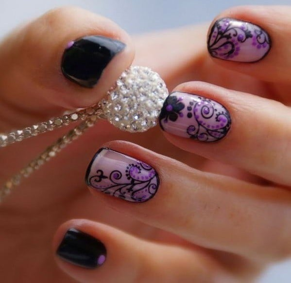 Purple Nail Designs 21