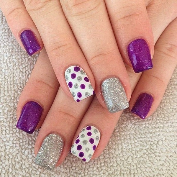 Purple Nail Designs 23