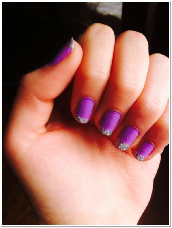 nail designs purple